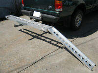 Receiver hitch motorcycle carrier, Aluminum