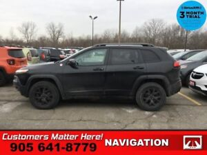 2016 Jeep Cherokee Trailhawk  4X4 LEATH/CLOTH CAM OFF/ROAD-SUSP