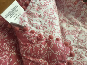 Reversible Pink Throw // never used