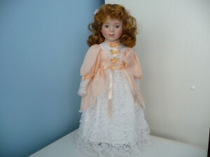 Porcelain Doll With Stand And Original Box - 4 To Choose From London Ontario image 5