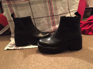 Size 7 Leather Platform Boots