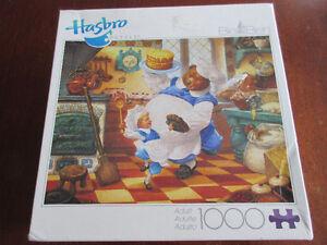 1000 Piece Big Ben Puzzle - Bear bakes a cake!  Scott Gustafson