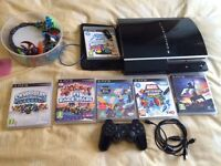 PS3 with games and controller (read description)