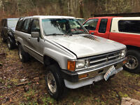 Rust free body parts for 1984 - 1995 Toyota 4runners Pick ups