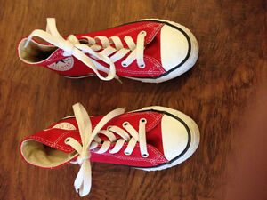 Boys size 11.5 Converse All Star shoes