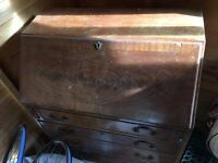 Antique desk with drawers