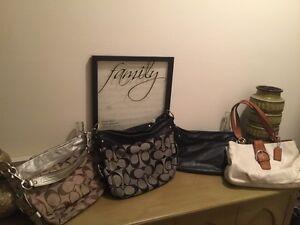4 lightly used leather Coach purses Windsor Region Ontario image 1