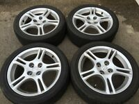 "16"" Mazda alloy wheels mx5 alloys rims 205 45 16 Toyo tyres"