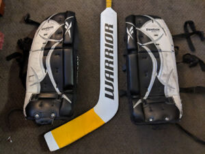 Youth goalie pads and stick