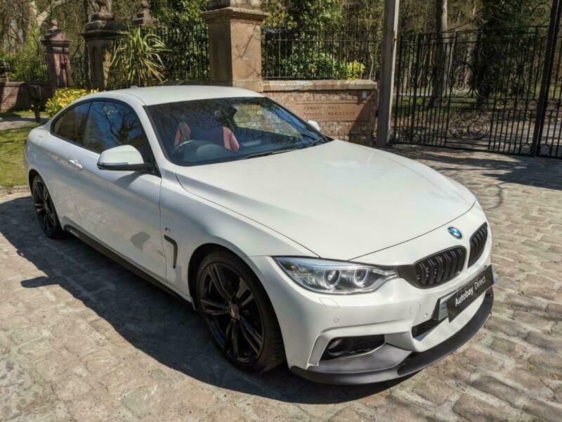 15 PLATE BMW 420i M SPORT COUPE PETROL 48,124 MILES RED LEATHER M PERFORMANCE