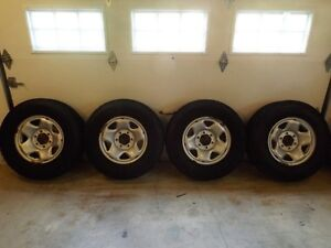 For Sale 4 Winter Tires on Toyota Tacoma Steel Rims