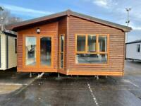 LUXURY 40FT X 20FT DOUBLE GLAZED & CENTRAL HEATED TIMBER LODGE FOR SALE OFF SITE