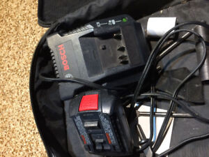 18 V Bosch charger and two lithium batteries