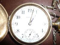 Antique Working Waltham gold filled Pocket Watch