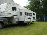 fifth wheel, 28 pieds, 2 bunk bed