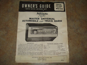 1950's Automatic Radio Owner's Guide