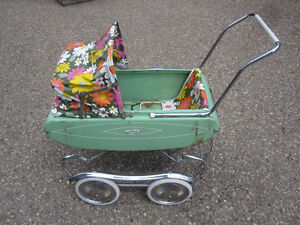 vintage Doll Carriage - metal - made by Gendron