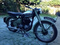 1957 Bsa c11g barn find project classic