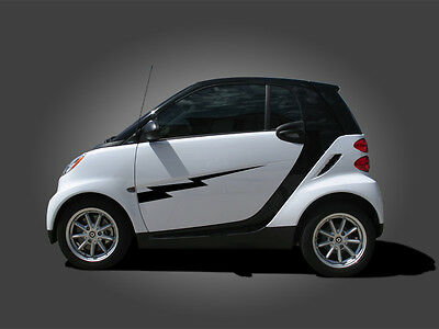 All Year Smart Car Lightning Bolt Side Graphics Set Stripe Smart for 2 or 4