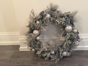 Brand new silver Christmas wreath- paid $150