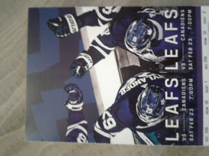 Toronto Maple Leafs vs Montreal Canadiens. Saturday, Feb. 23rd