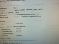 Dell Optiplex 3020 SFF(Intel Core i5 4590 4th Gen @3.30Ghz 8GB DDR3 250G SSD