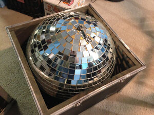 20-Inch Glass Mirror Ball and Heavy-Duty Road Case London Ontario image 1
