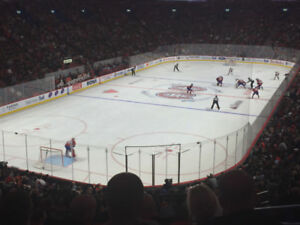 Canadiens Montréal  Red C Sec 118 Row V 514 945 6381