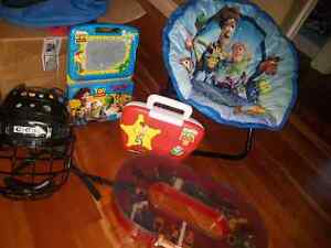 TOYS STORY...KIDS  clothes hanger.. fold out couch.. chair.