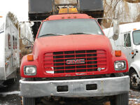 1999  GMC  C7500  topkick tilt and  load  with  flatbed