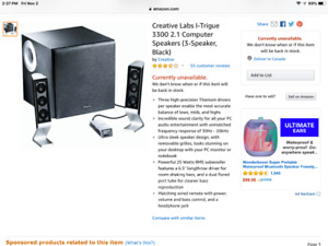 Speakers for computer.  Creative Lab Brand