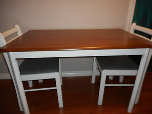 Refinished Table with 4 chairs $400