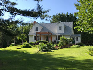 Gorgeous 3 bdrm Cape Cod on 3.84 acres with 3 stall horse barn