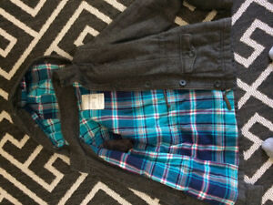 Aeropostale youth small tweed and flannel lined coat