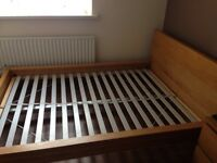 IKEA solid wooden double bed