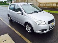 2009 Chevrolet Aveo 1.2 LS 5 DR years MOT Low Mileage Service history excellent car only £1495