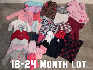 18-24 month lot. Christmas outfits included