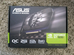ASUS NVIDIA GT 1030 2GB OC EDITION (LIKE NEW, 1 MONTH USE)