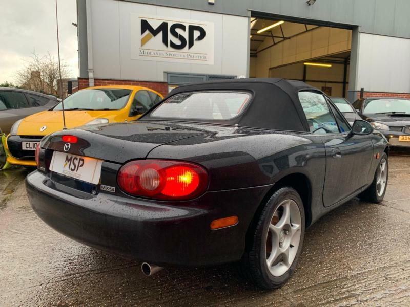 2005 05 Mazda Mx 5 1 8 Icon Convertible 2dr Petrol Manual Black Low Miles 71 000
