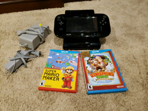 WiiU console, 2 controllers  and games for sale