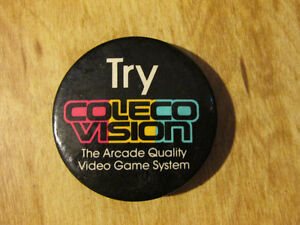 Vintage Video Game System COLECO COLECOVISION Button Pin Atari