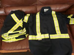 5 dark blue short sleeve hi vis work shirts