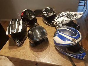 Whole lot of helmets. Selling all together only.