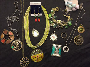 Vintage green assorted beautiful items