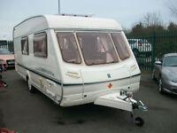 Abbey aventura 320 four berth touring caravan