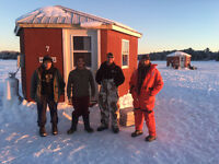 ICE-FISHING $40/day, $75/24hrs ($145 FRIDAY 7am-Sunday 12pm)
