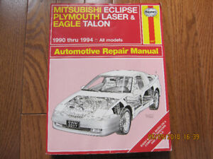 1990 thru 1994 Repair Manual for Eclipse, Laser and Eagle Talon