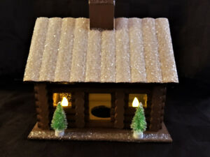 ON SALE!! Christmas Lit log home decor