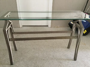 Elegant glass top console  table