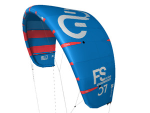 2018 Eleveight FS 12m Kiteboarding Kite (Blue w Red Stripes)